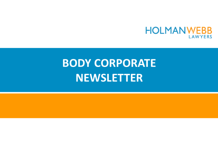 Body Corporate Newsletter April 2019