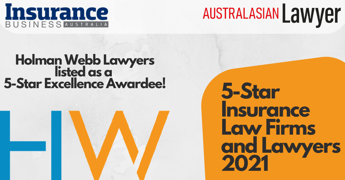 Holman Webb Listed in 5-Star Insurance Awards 2021