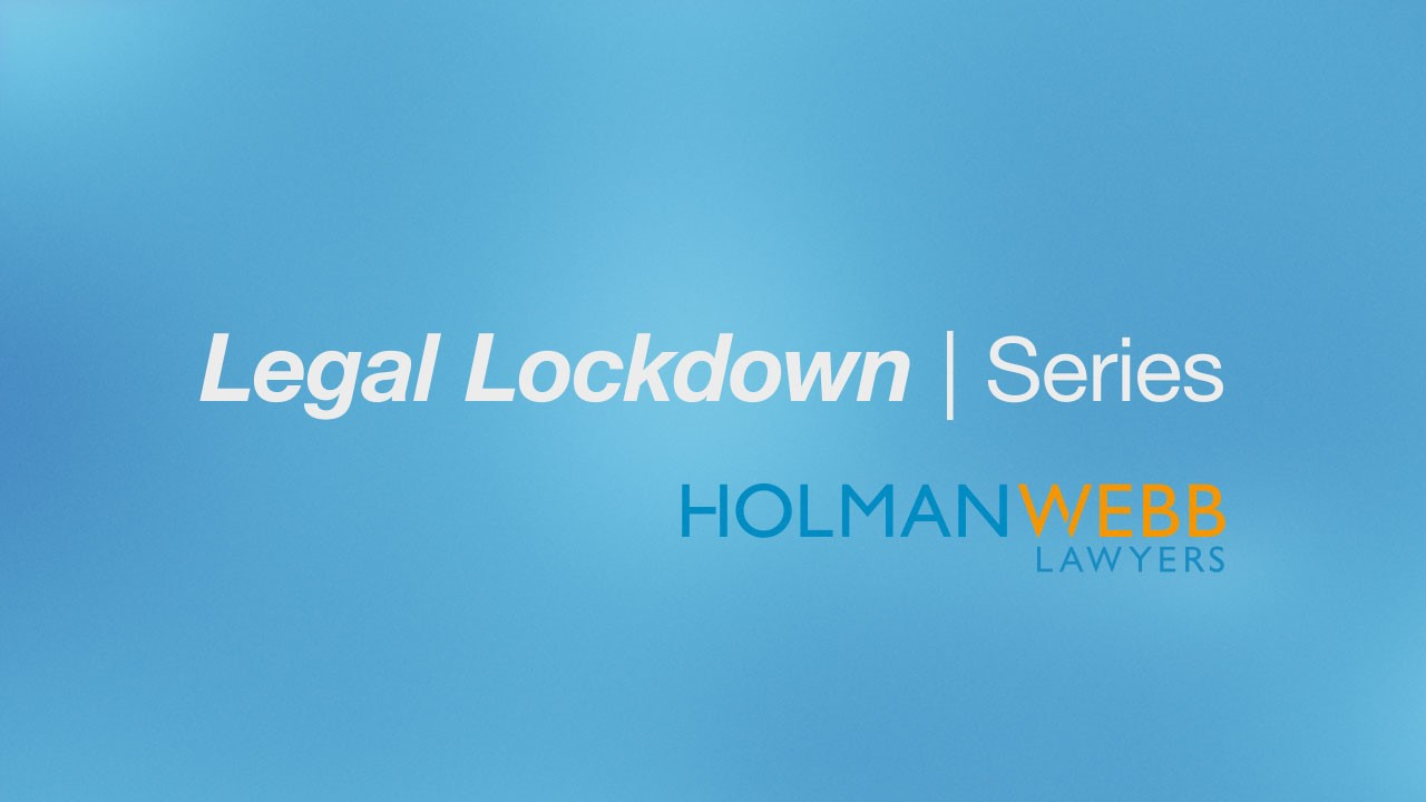 Legal Lockdown - Episode 1: JobKeeper Scheme